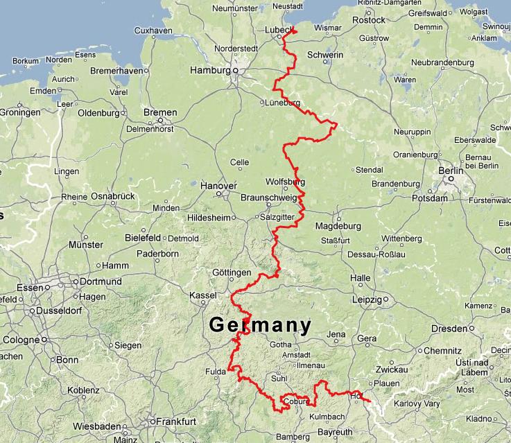 Republica Democratica Alemana Mapa.El Corredor Verde