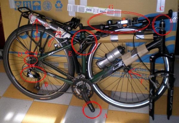 Enviar una bicicleta por mensajería