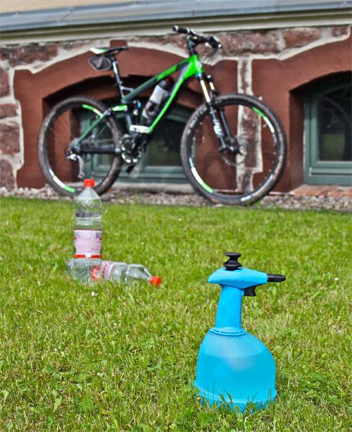 Lavar la bici sin manguera