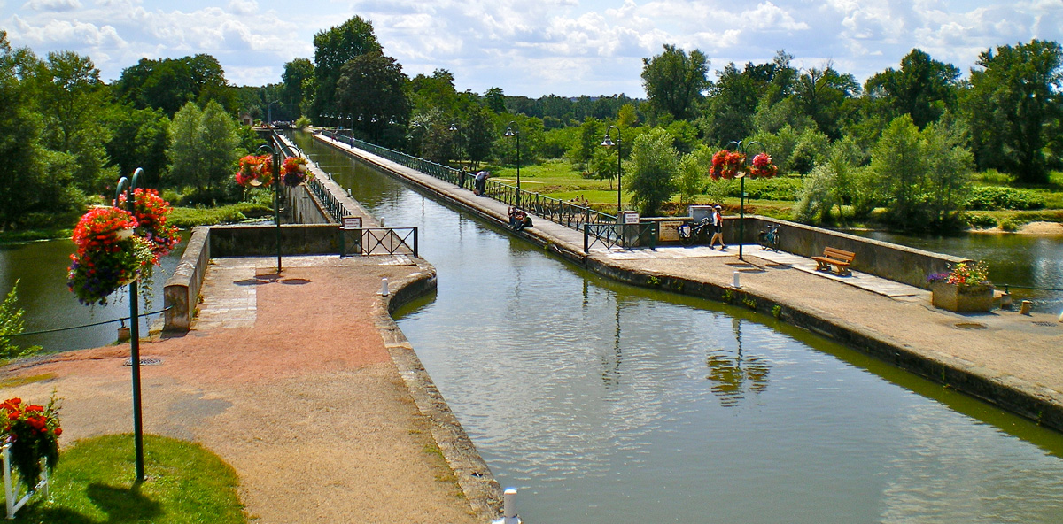 Pont-Canal en Digon, Eurovelo 6 en bicicleta