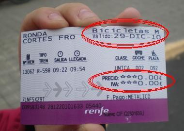 ¿Alguien puede meter su bici en un tren en España? Renfe Billete%20tren